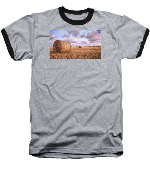 Bundy Hay Bales #1 Baseball T-Shirt by Brad Grove