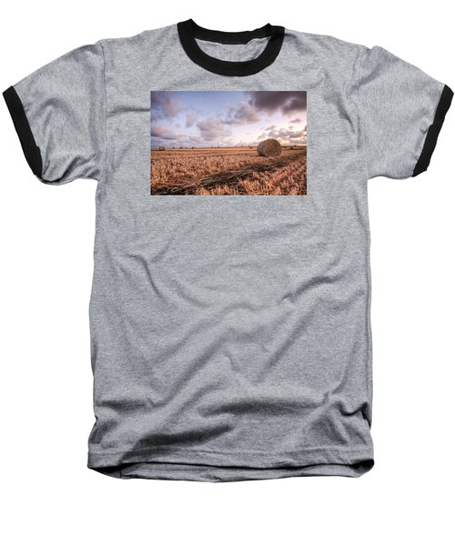 Bundy Hay Bales #2 Baseball T-Shirt by Brad Grove