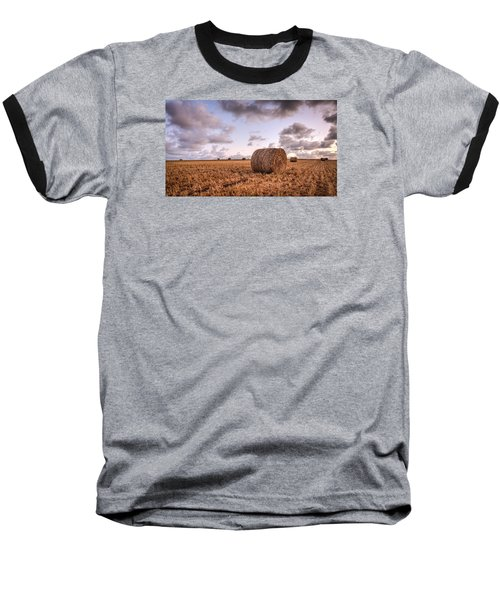 Bundy Hay Bales #3 Baseball T-Shirt by Brad Grove