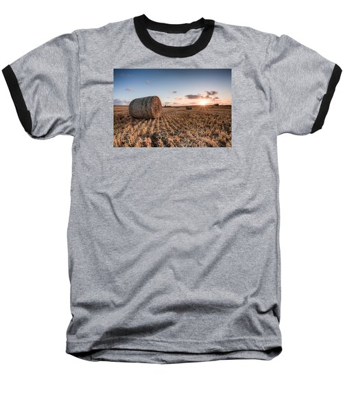 Bundy Hay Bales #5 Baseball T-Shirt by Brad Grove