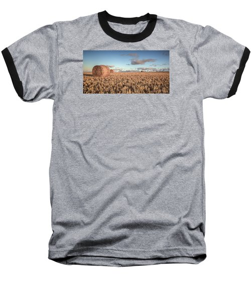 Bundy Hay Bales #6 Baseball T-Shirt by Brad Grove