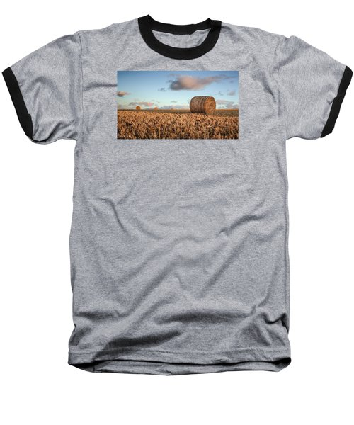 Bundy Hay Bales #7 Baseball T-Shirt by Brad Grove