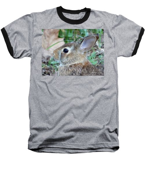 Bunny Portrait Baseball T-Shirt