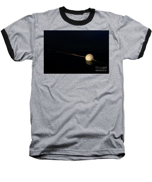 Baseball T-Shirt featuring the photograph Buoy At Night by Stephen Mitchell