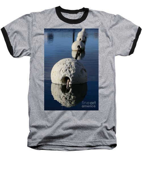 Baseball T-Shirt featuring the photograph Buoy In Detail by Stephen Mitchell