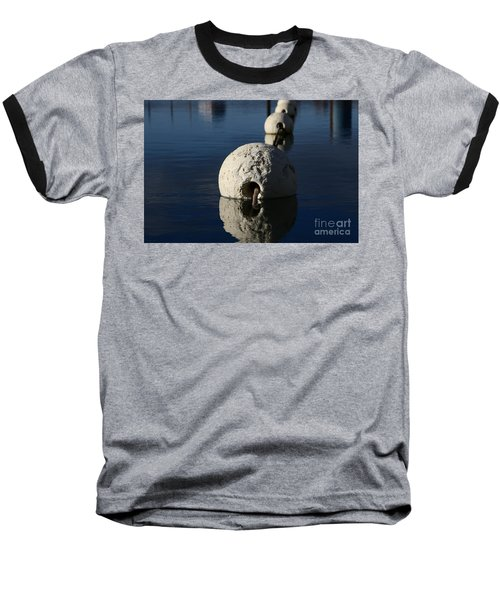 Baseball T-Shirt featuring the photograph Buoy Upfront by Stephen Mitchell