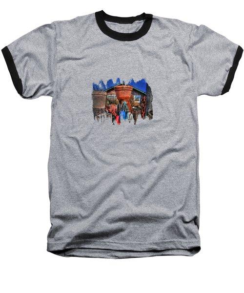 Buoys Chains And Pots Baseball T-Shirt by Thom Zehrfeld