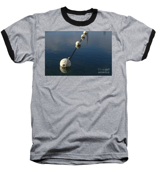 Baseball T-Shirt featuring the photograph Buoys In Aligtnment by Stephen Mitchell
