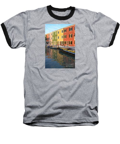 Baseball T-Shirt featuring the photograph Burano Italy 1 by Rebecca Margraf