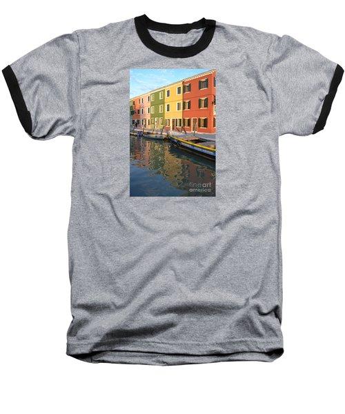 Burano Italy 1 Baseball T-Shirt by Rebecca Margraf