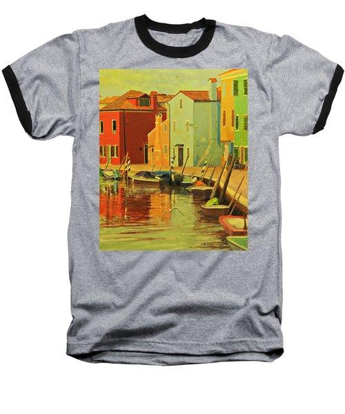 Burano, Italy - Study Baseball T-Shirt
