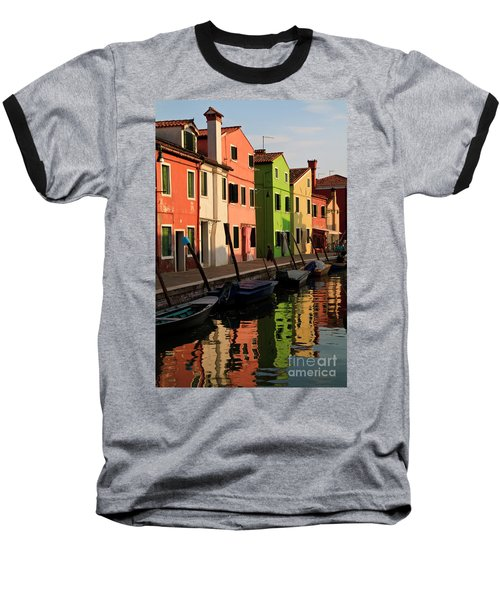 Baseball T-Shirt featuring the photograph Burano Reflections by Dennis Hedberg