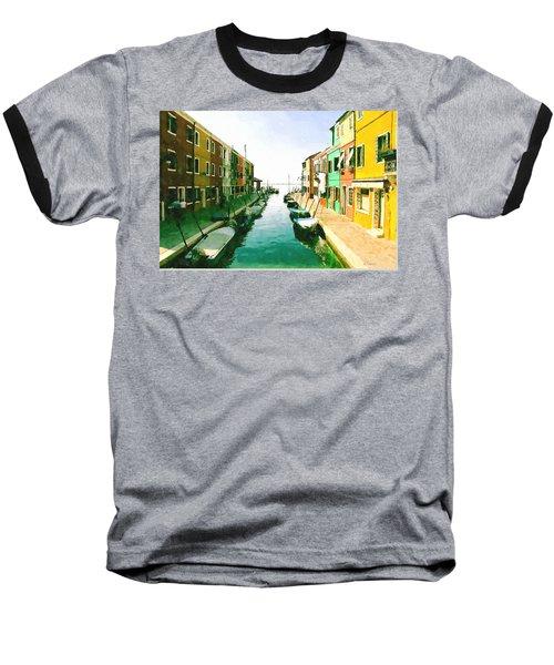 Baseball T-Shirt featuring the digital art Burano Venice by Kai Saarto
