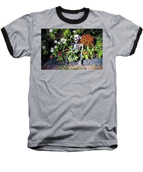 Baseball T-Shirt featuring the photograph Buried Alive - Skeleton Garden by Colleen Kammerer