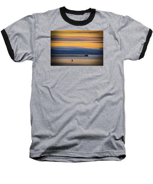 Burlington Lighthouse Sunset Baseball T-Shirt