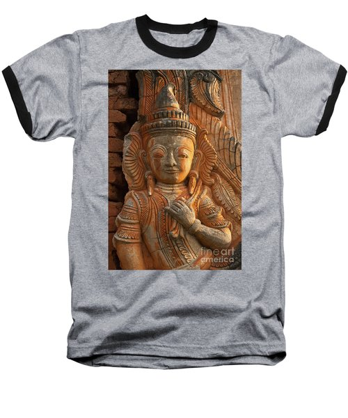 Baseball T-Shirt featuring the photograph Burma_d187 by Craig Lovell