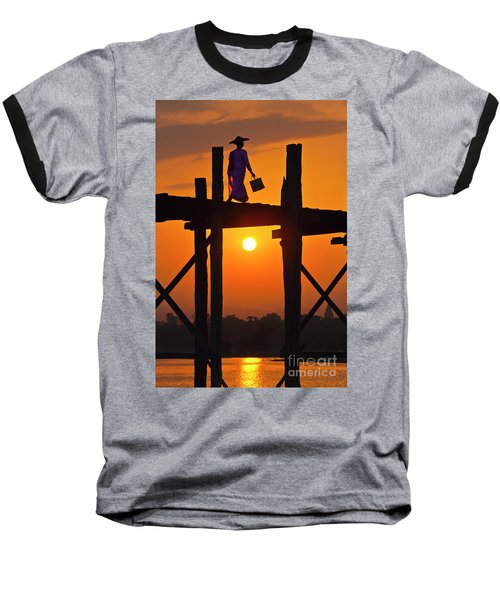 Baseball T-Shirt featuring the photograph Burma_d807 by Craig Lovell