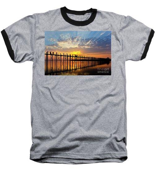 Baseball T-Shirt featuring the photograph Burma_d819 by Craig Lovell