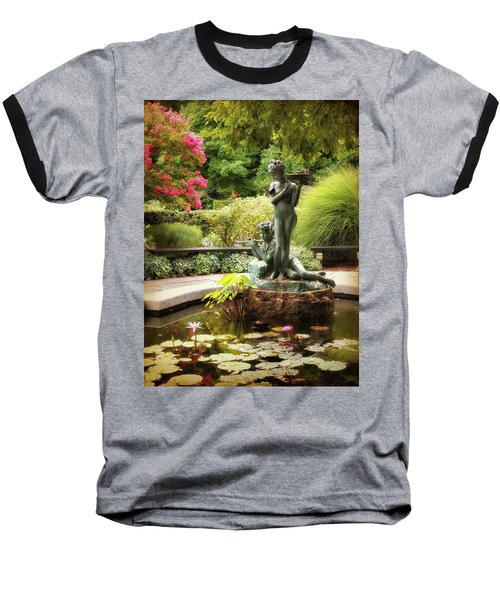 Burnett Fountain Garden Baseball T-Shirt
