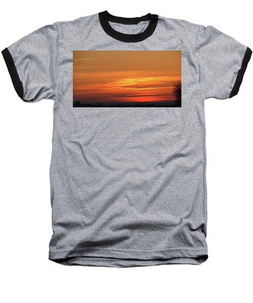 Burning Sunset Baseball T-Shirt