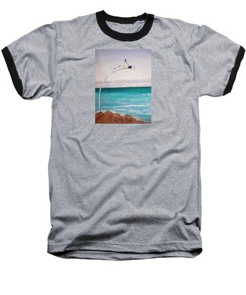 Burns Beach Baseball T-Shirt by Elvira Ingram