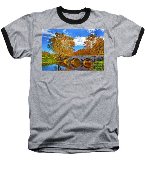Burnside Bridge At Antietam Baseball T-Shirt