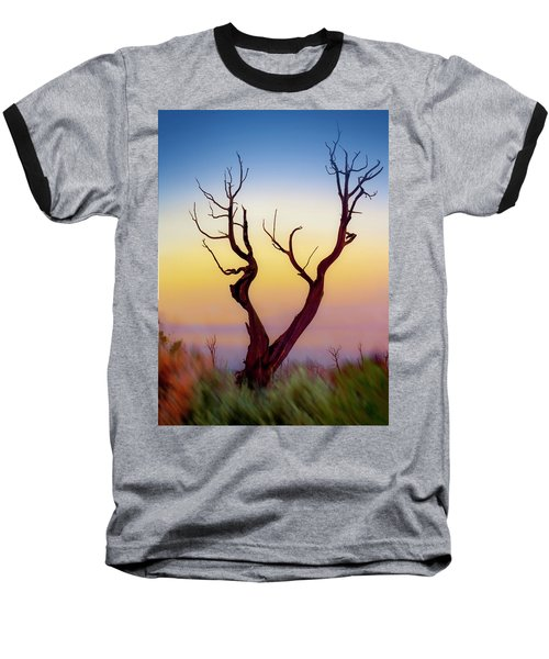 Burnt Cedar At Sunset Baseball T-Shirt