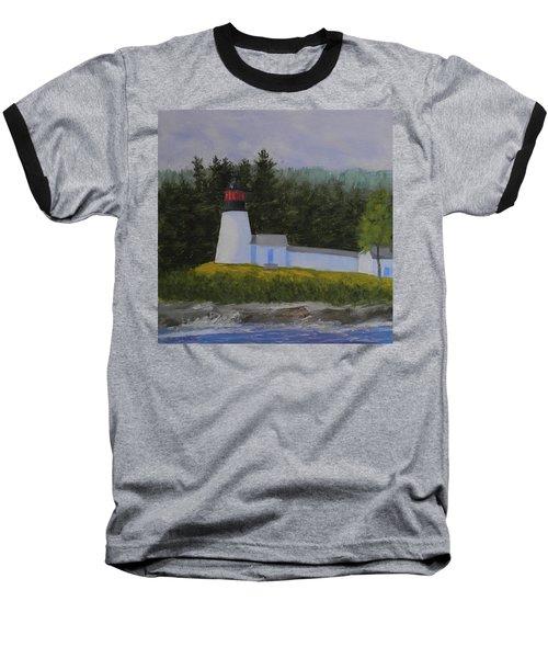 Burnt Island Light Baseball T-Shirt