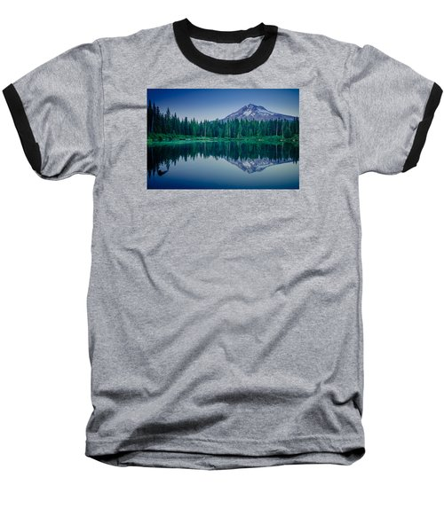 Burnt Lake Reflection Baseball T-Shirt