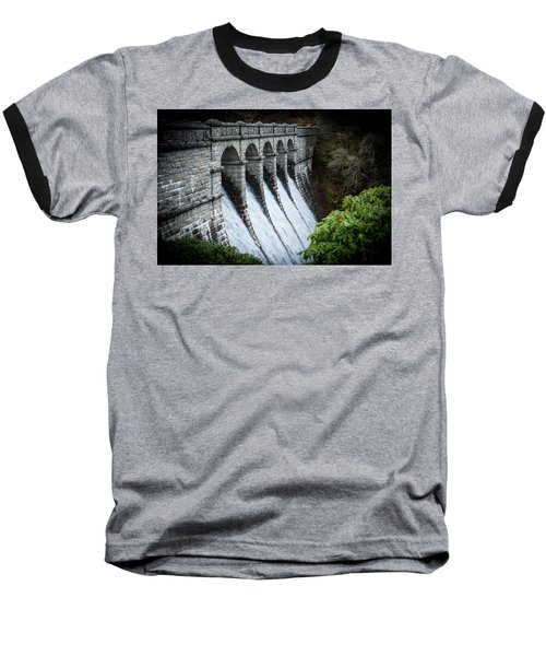Burrator Reservoir Dam Baseball T-Shirt