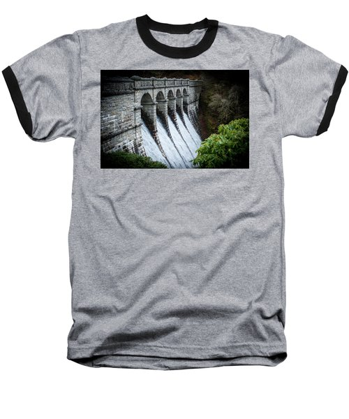 Burrator Reservoir Dam Baseball T-Shirt