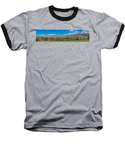 Baseball T-Shirt featuring the photograph Burren Panorama by Juergen Klust