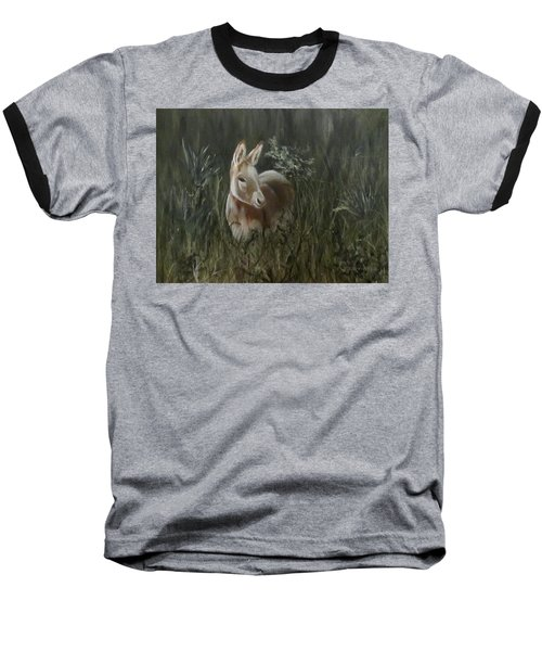 Baseball T-Shirt featuring the painting Burro In The Wild by Roseann Gilmore