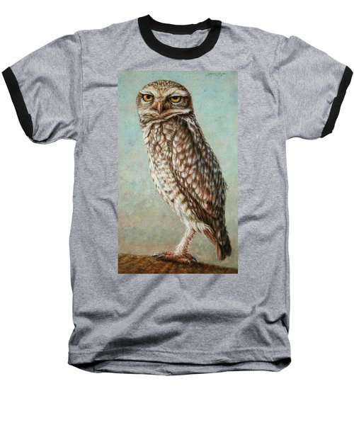 Burrowing Owl Baseball T-Shirt by James W Johnson
