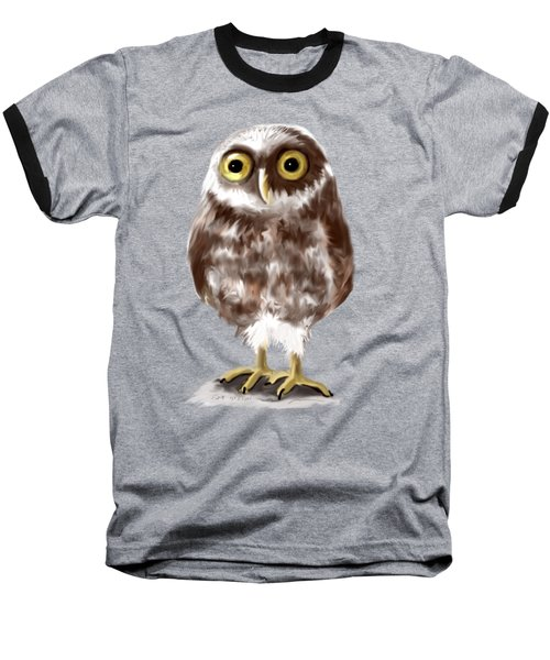Burrowing Owl Baseball T-Shirt by Jean Pacheco Ravinski