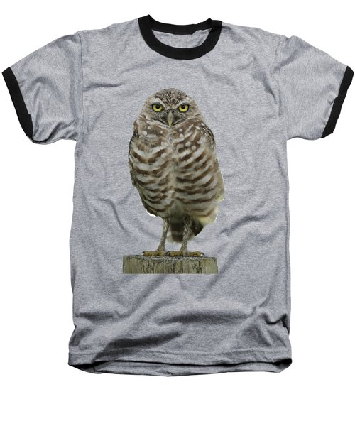 Burrowing Owl Lookout Baseball T-Shirt