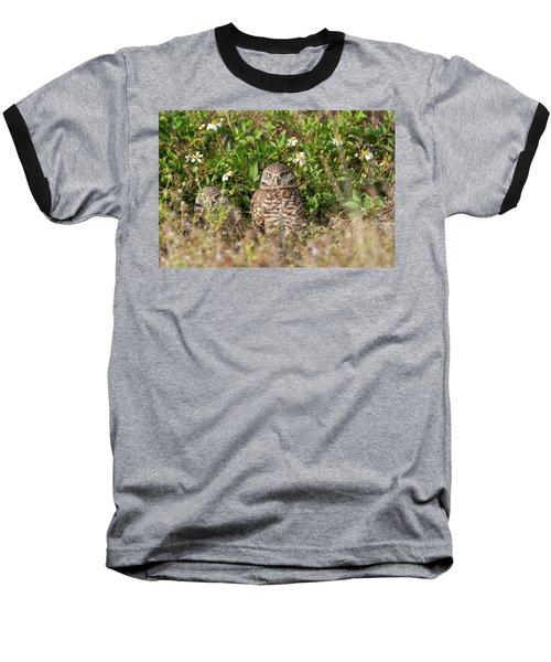 Burrowing Owls Outside Their Den Baseball T-Shirt