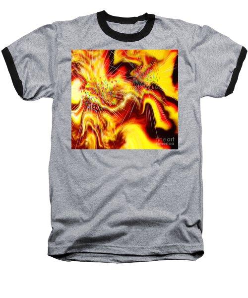 Burst Of Energy Baseball T-Shirt by Belinda Threeths