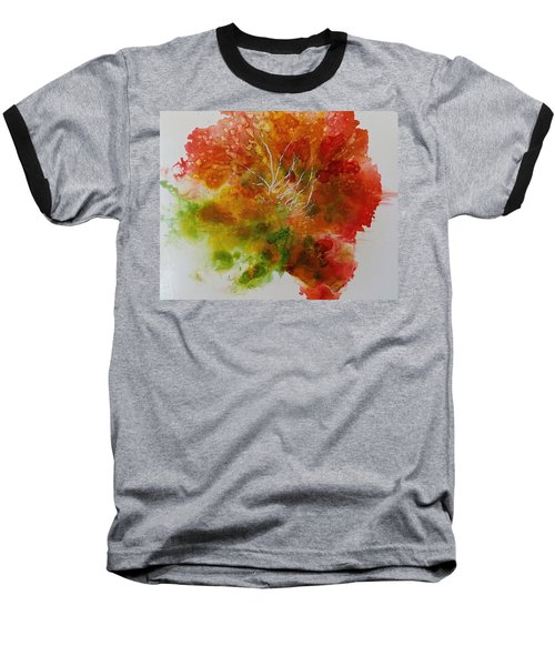 Baseball T-Shirt featuring the painting Burst Of Nature by Carolyn Rosenberger