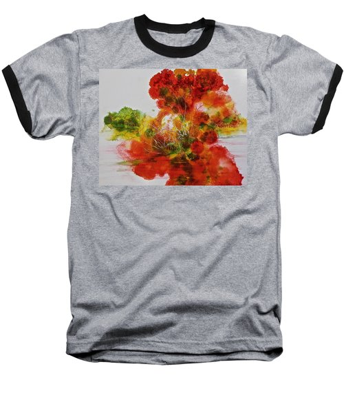 Baseball T-Shirt featuring the painting Burst Of Nature, II by Carolyn Rosenberger