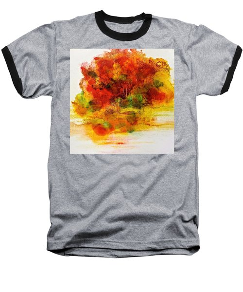 Baseball T-Shirt featuring the painting Burst Of Nature IIi by Carolyn Rosenberger