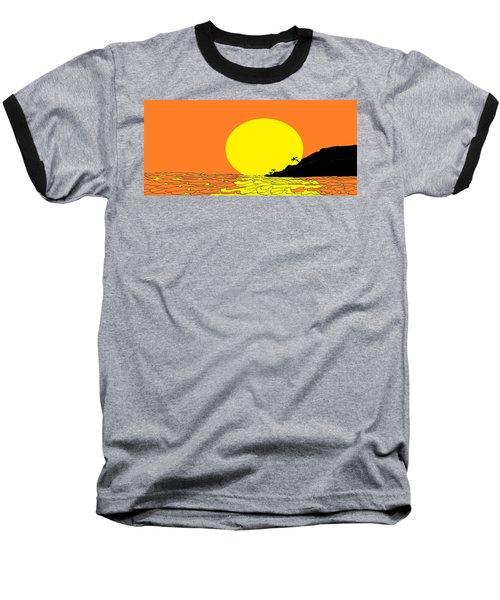 Burst Of Yellow Baseball T-Shirt