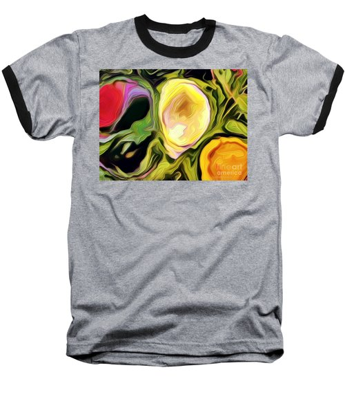 Three Sisters Baseball T-Shirt by Kathie Chicoine