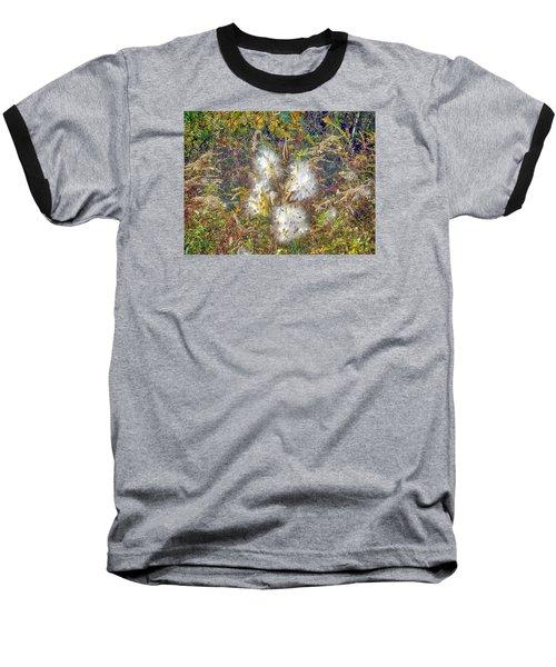 Bursting Milkweed Seed Pods Baseball T-Shirt