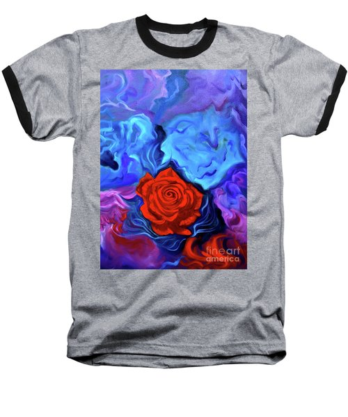 Bursting Rose Baseball T-Shirt