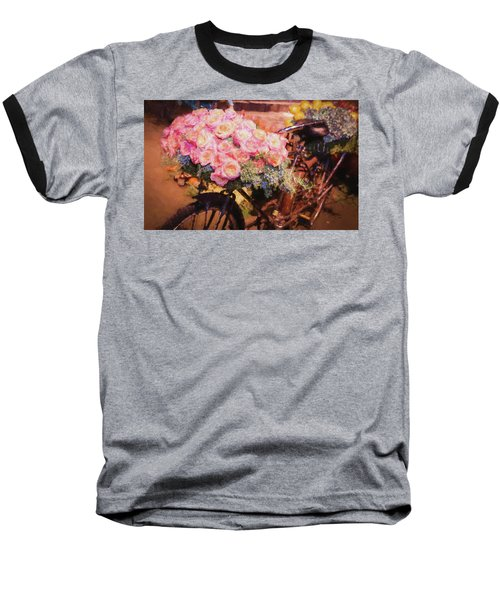 Bursting With Flowers Baseball T-Shirt by Patrice Zinck