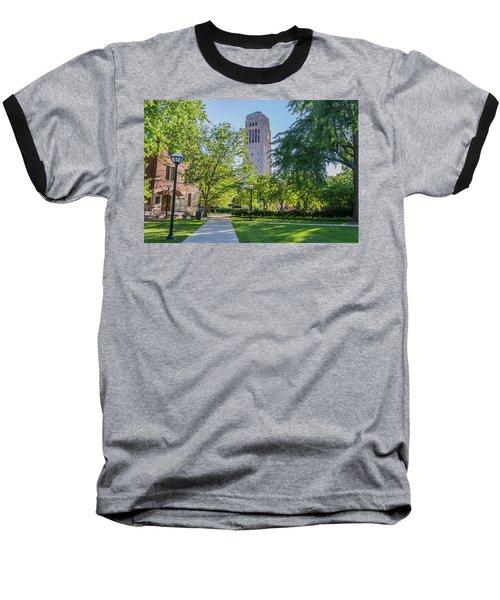 Burton Memorial Tower 1 University Of Michigan  Baseball T-Shirt