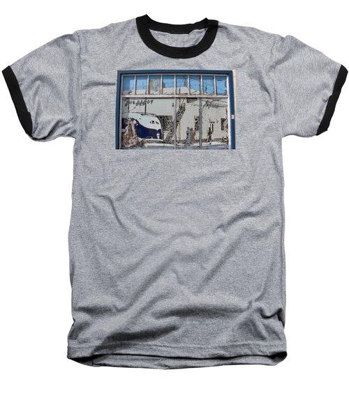 Vintage Bus Depot Sign Baseball T-Shirt by Suzanne Lorenz