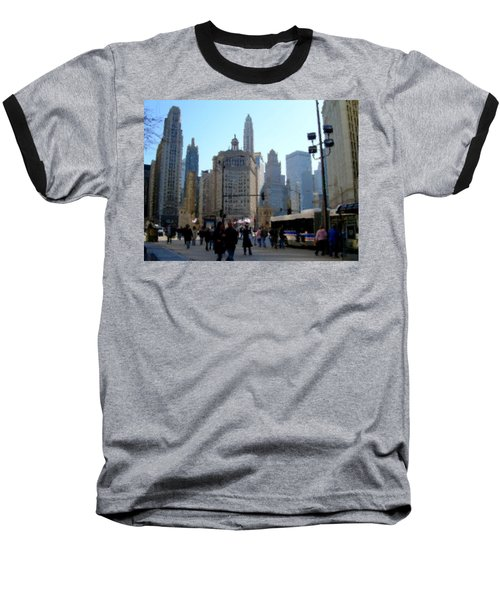 Bus On Miracle Mile  Baseball T-Shirt