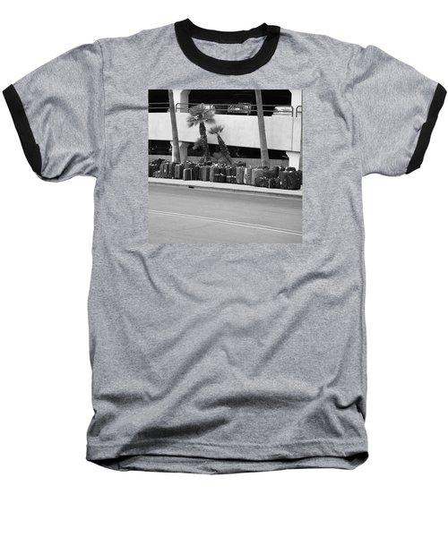 Bus Station Baseball T-Shirt